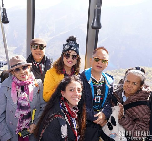 Halidzor, Armenia: Our guests from Thailand