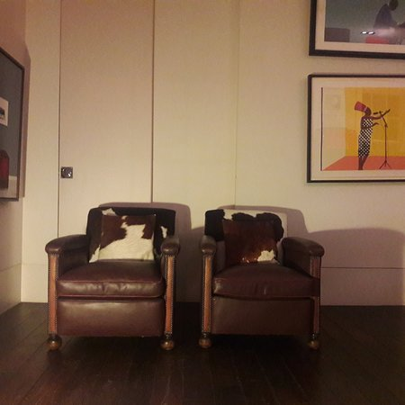 Pair of french library chairs upcycled for a recent client