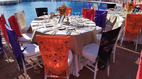 Province of Huelva, Spain: Decoracion de mesas en el Hotel Barcelo- Huelva