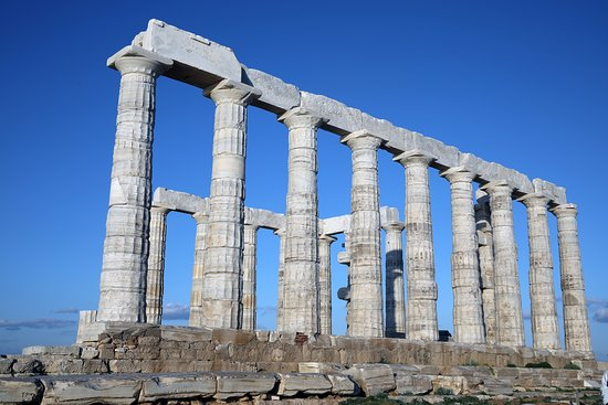 Cape Sounion Private Half-Day Trip from Athens with Picnic: Temple of Poseidon during the day.