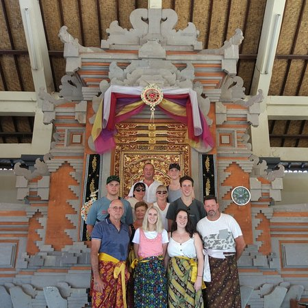 Visit batuan temple with lovely guest from Australia