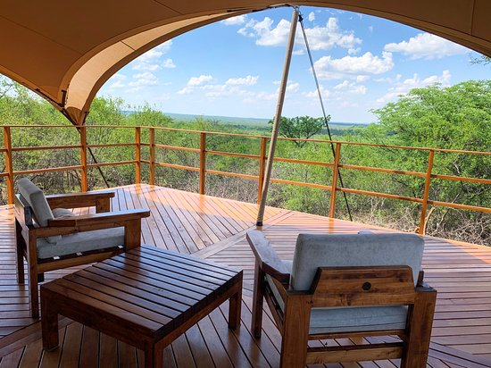 Tolwe, South Africa: Baobab Tent Camp deck view