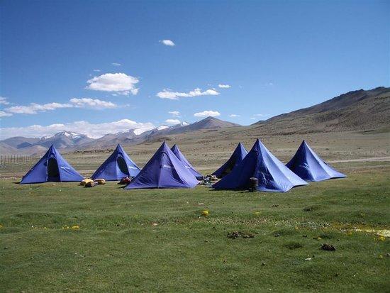 Sarchu, India: Camping