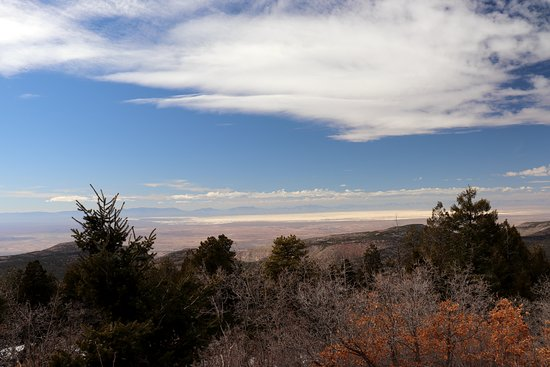 Sunspot, NM: View from the top, White Sands National Park in the distance!