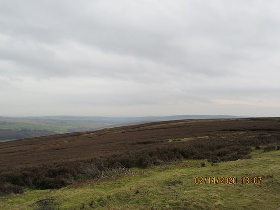 View over Bransdale Moor from St. Nicholas church