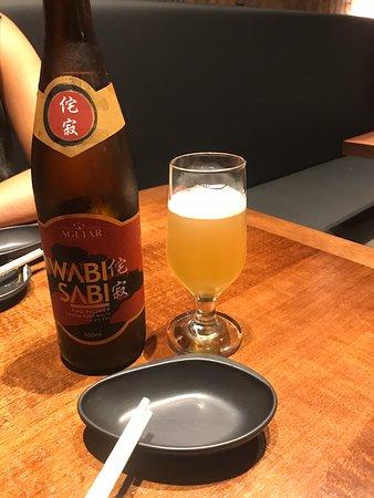 Wabi Sabi é uma pilsen da casa bem saborosa. Vale a pena experimentar.