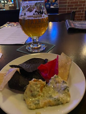 Bloomington, IN: Spin Dip and local brew. Excellent!
