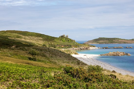 St Martin's, UK: Great Bay in St Martins, one of the Scilly Isles off the coast of Cornwall