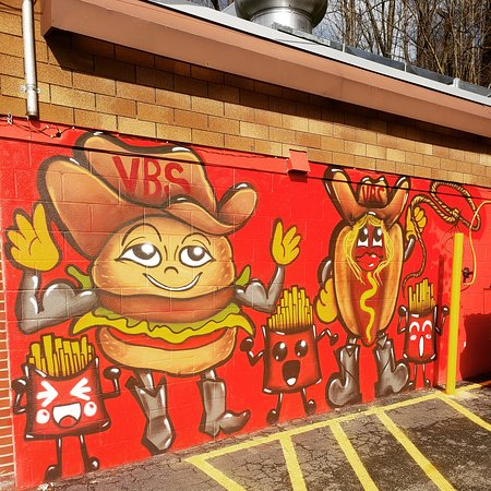 Seymour, CT: Stop by the shack and take a pic with the burger man and his friends!