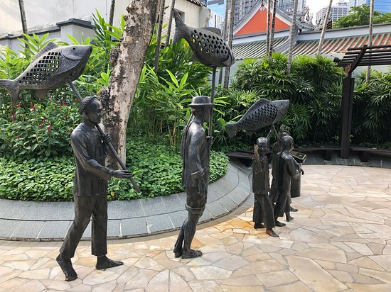 The park with statues