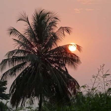 Neves, Sao Tome and Principe: Sunset in the north of the Island of São Tomé