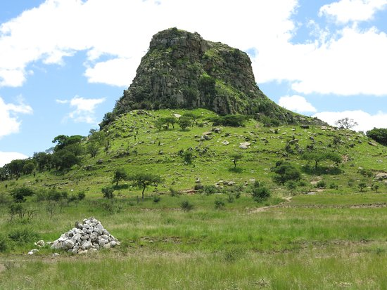 Isandlwana, South Africa: the backdrop and main battle site...