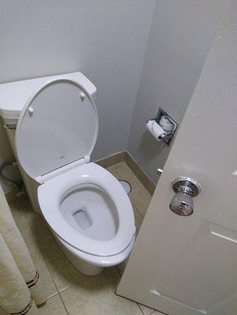 Port Wentworth, GA: Bathroom door barely had room to get past toilet