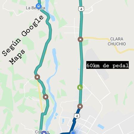 Santa Cruz de la Sierra, Spain: Para quienes les gusta la bici está ruta me gusta porque no se recorre el mismo camino para volver. Se inicia desde el Urubó, el mismo camino para ir a Los Quesos y se desvía a la derecha. Se puede tomar un descanso a mitad de camino en el pueblo mismo de La Bélgica o quedarse en Colpacaranda que igual está a la mitad del camino y luego volver por la carretera al norte.