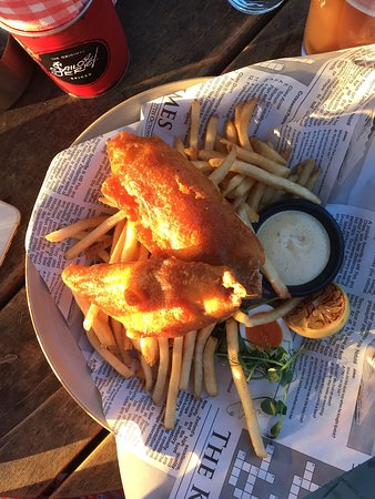Long Bay, Новая Зеландия: Fish and Chips