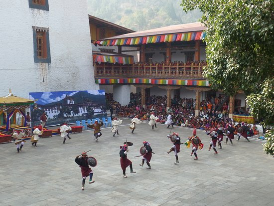 Punakha District, Bhutan: Punakha Tshechu/festival
