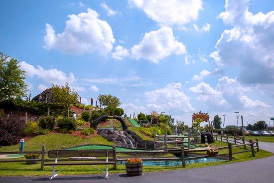 Loves Park, IL: Volcano Falls Adventure Park is open rain or shine.