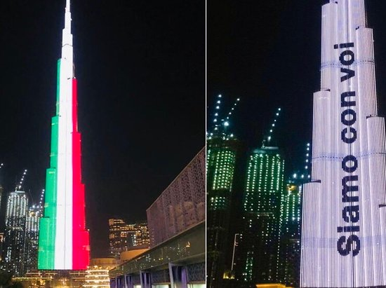 United Arab Emirates: Tutti uniti ❤️🇮🇹