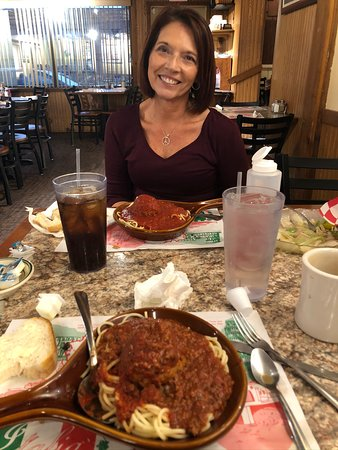 Steubenville, OH: Awesome spaghetti with my awesome wife!