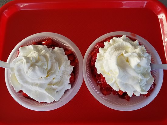 Wimauma, FL: Shortcake for 2.  We intentionally didn't ask for as much whipped cream as they normally offer.