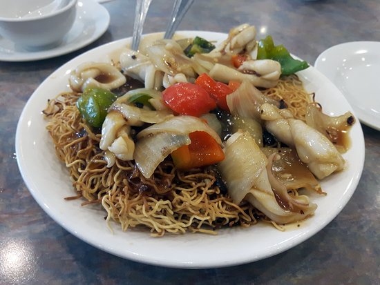 Here is 1 of 42 different types of chow mein or fried rice noodle in their take-out menu!