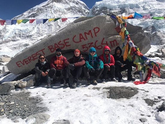 Everest Base Camp Trek - 14 Days: Great expedition team: Dambar, Ram, Andres, Jacob, Peshal, and Francisco