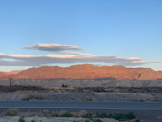 Shoshone, CA: across the highway from the campground