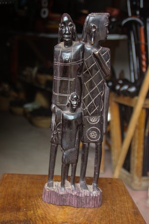 Dar Es Salaam Region, Tanzanija: Maasai family, this is the carving of maasai people. it includes father of the family, child and mother of the family.  To see more of African culture  visit our website. https://newafroculture.com/  Explore. Experience. Shop