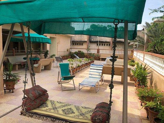 Terrace on the first floor at Rukumavati Guesthouse