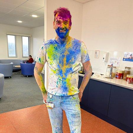 Portslade, UK: Holi, celebrating colours.