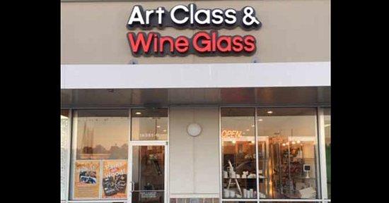 Art Class & Wine Glass