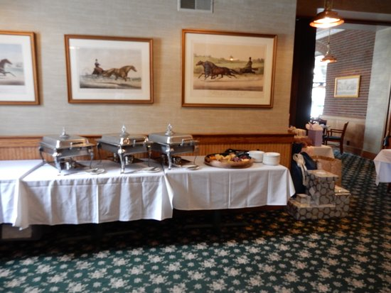 Clifton Springs, NY: room set up for shower buffet