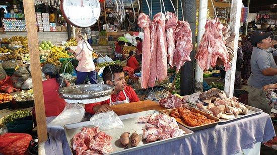 Solola, Guatemala: Stand de viande