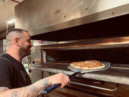 Elk Horn, IA: Making Pizza