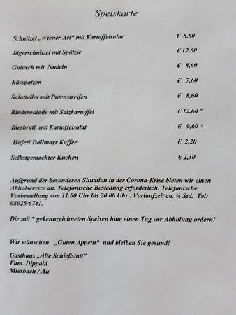 ไมส์บาค, เยอรมนี: Speisenkarte