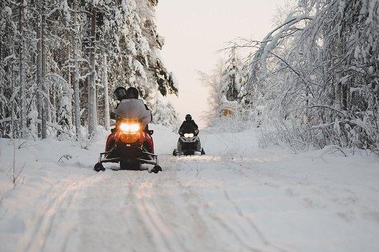 Excursión en moto de nieve del Ártico...