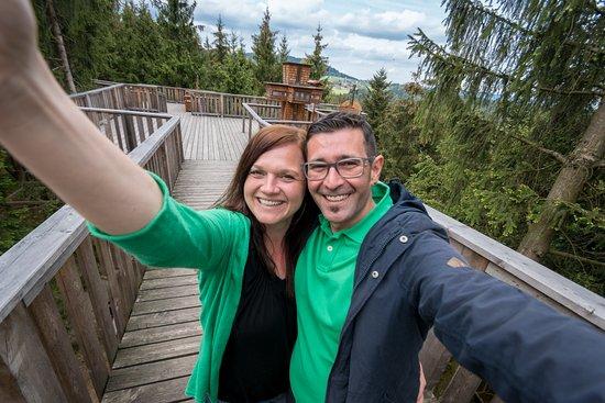 Kopfing im Innkreis, Austria: Pärchen macht Selfie