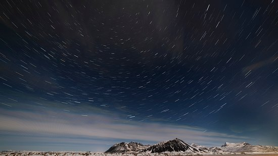 Seltjarnarnes, Iceland: Although no Northern Lights, the stars above Iceland were breathtaking. As a landscape photographer, I've learned to just appreciate the gifts that Mother Nature gives you. This night's gift was a beautiful star-filled night over snowy Icelandic landscape.