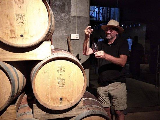 Bodega Tierras Altas: Catando sus excelentes vinos...