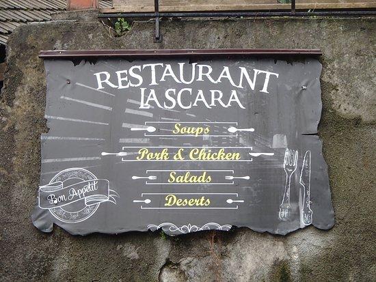 Sign board, Restaurant La Scara