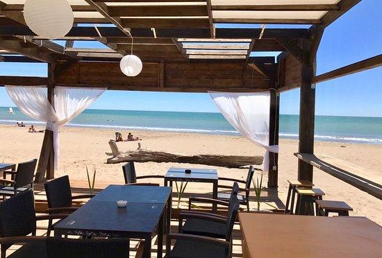Sant Jaume d'Enveja, Spain:  Buda mar beach club bar desdde las 10.30