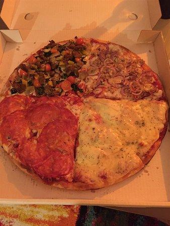 Ponte Tresa, İsviçre: Pizza 4 gusti...