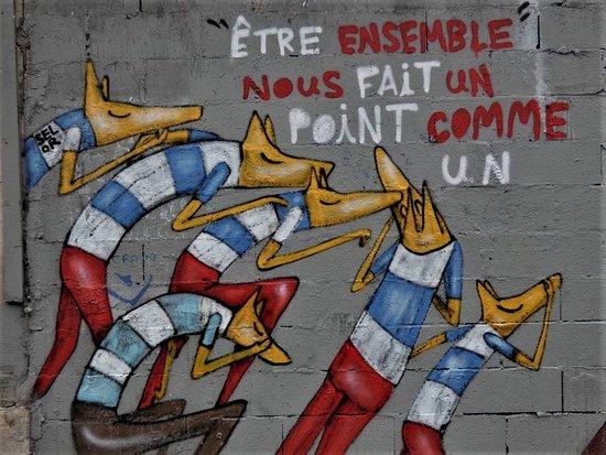 """Fresque """"Etre ensemble"""""""