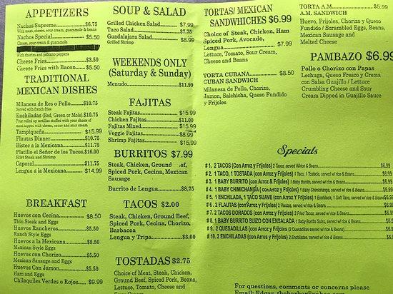 El Senor De Los Tacos Rochelle Restaurant Reviews Photos Phone Number Tripadvisor