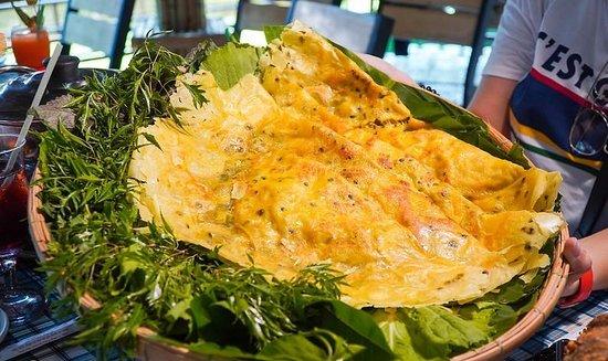 Провинция Бенче, Вьетнам: Bánh xèo Làng Xanh thơm nức mũi
