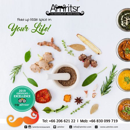 Mesmerize yourself with the vibrant flavors and the vivid aromas of the North Indian Cuisine.  For Reservations call @ +66830099719   +6620662122  Order Online - http://bit.ly/2qsgEiz  We are the ONLY Amritsari restaurant which delivers anywhere in Bangkok and we are OPEN from 9AM to 4 AM.  #Amritsr #AmritsrBangkok #Sukhumvit #Soi11 #Soi22 #Phuket #FoodVibes #FoodLovers #Menu #FoodMenu #Offer #Breakfast #visitus #OrderOnline #FoodOnline #Foodie #FoodLover #Bangkok #Thailand #BangkokFoodie #Bangk