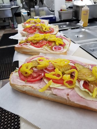 Palm City, FL: Making our 5 meat and cheese Italian sub