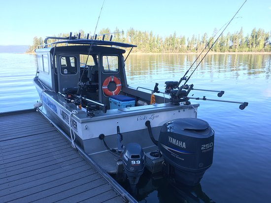 Bigfork, MT: 24' North River Offshore all ready for the day. Fish Flathead Lake.