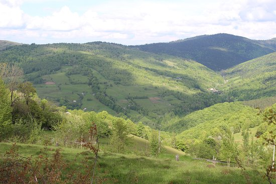 Northwest Romania, Romênia: View above Rachitele