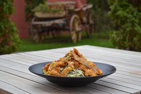 Kovacica, Serbien: Salata sa hrskavom piletinom